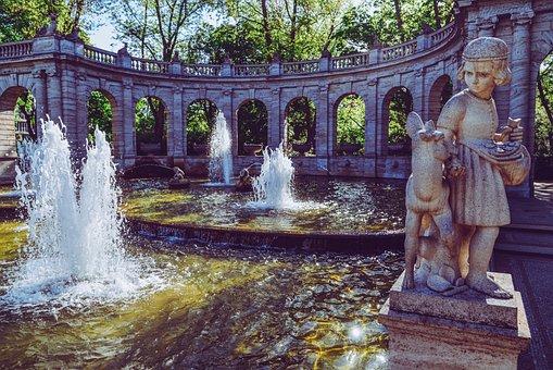 Fountain, Fairy Fountain, Berlin, Water, Friedrichshain