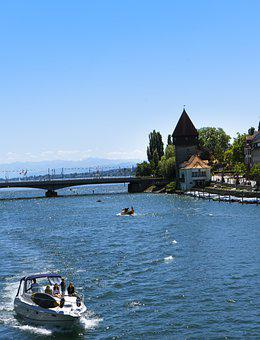 Bodensee, Water, Boat, Lake, Beach, About, Conversation