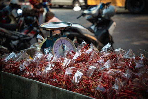 Chili, Food, Sharp, Red, Packed, Packaging, Shopping