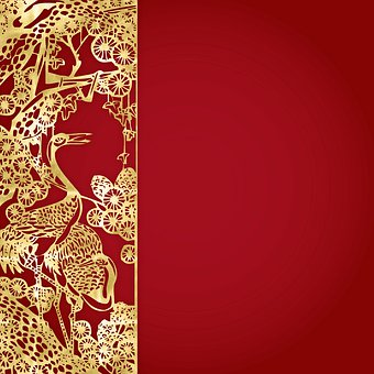 Chinese Background, Red, Chinese Pattern, 2020, Summer