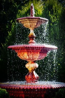 Fountain, Park, Water, Wet, Water Jet, Inject, Bubble