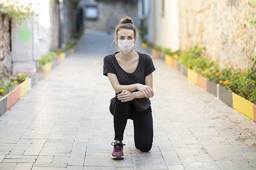 Coronavirus, Mask, Woman, Portrait, Street, Quarantine