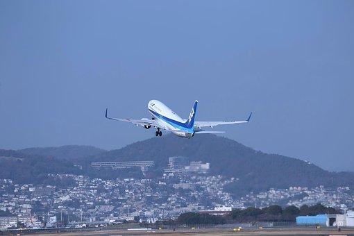 Japan, Osaka, Airplane, Aircraft, Blue Sky, Boeing 737