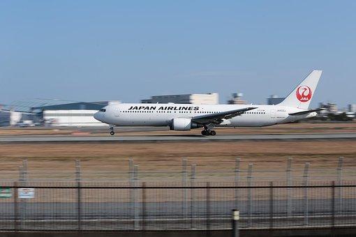 Japan, Airplane, Boeing 767, Osaka Airport