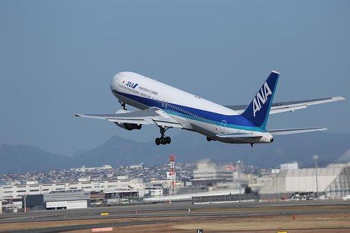 Japan, Boeing 767, Osaka Airport, Airplane