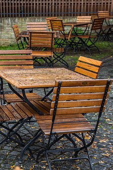 Table, Cafe, Gastronomy, Street Cafe, Sit, Bistro, Rain