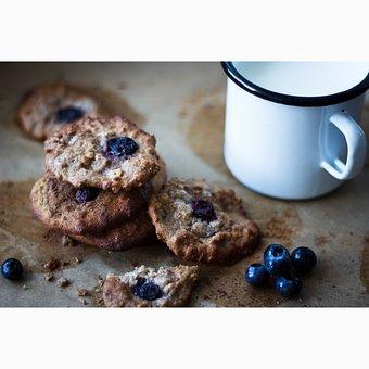 Cookies, Blueberry, Food, Snack, Berry, Dessert, Sweet