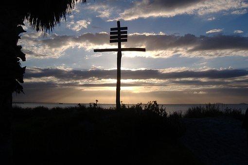 Cross, Jesus, Silhouette, Christianity, Prayer, Easter