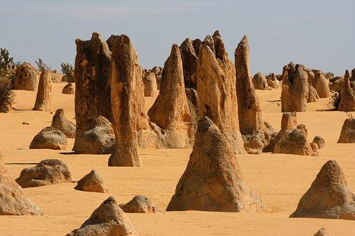 Pinnacles, Nambung, Desert, Western, Australia, Rocks