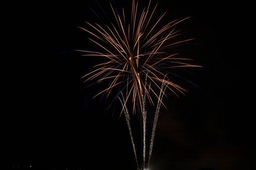 Fireworks, Night, Darkness, Pyrotechnics, Fires
