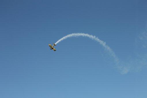 Double Decker, Flugshow, Flyer, Aircraft, M17, Flight