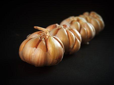 Garlic, Meals, White, Clove, Seasoning, Closeup