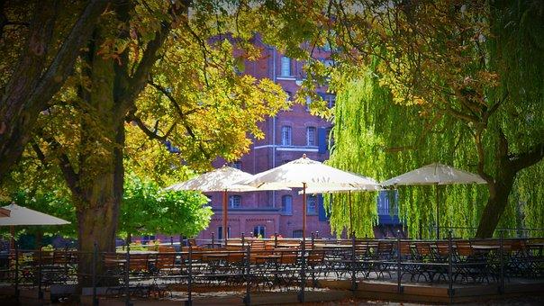 Beer Garden, Parasol, Gastronomy, Garden Furniture