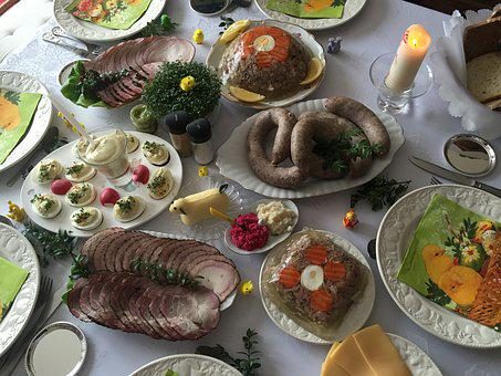 Food, Poland, Easter, Table, Traditional, Homemade
