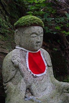 Jizo Statue, Mount Koya, Forest, Japan, Koyasan