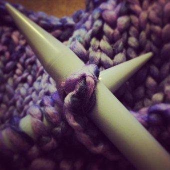 Knitted, Knitting, Needles, Knitting Needles, Wool