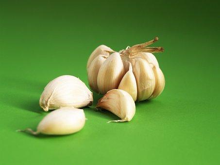 Garlic, Meals, Seasoning, White, Clove, Closeup