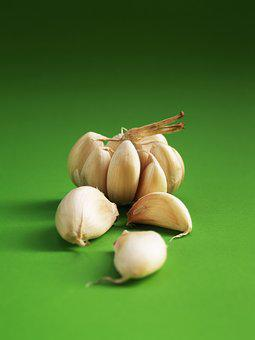 Garlic, Meals, Seasoning, White, Clove, Closeup