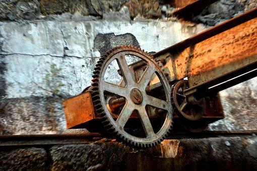 Mines, Coal, Portrait, Past, Train, Old, Antique