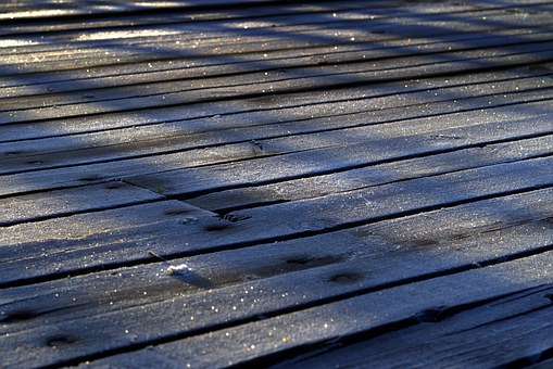 Boards, Frost, Morning, In The Morning, The Rays