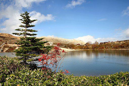 Mt Shirane, Pond, Mountain, Autumn, Autumnal Leaves