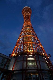 Japan, Osaka, Osaka Night View, Night View, Kobe Tower
