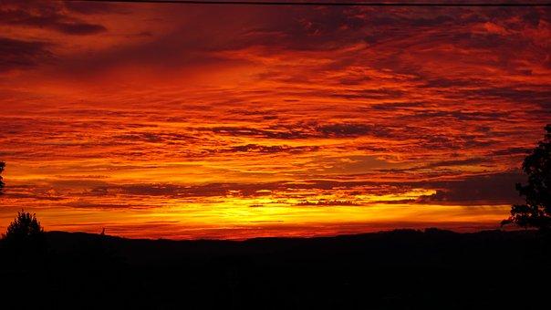 Sunset, Color Explosion, Sun, Orange, Twilight, Sky