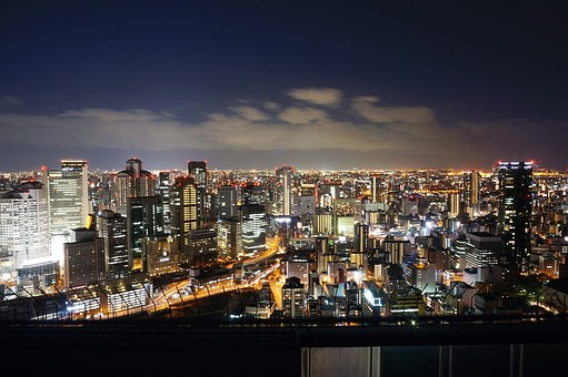 Japan, Osaka, Osaka Night View, Night View, History