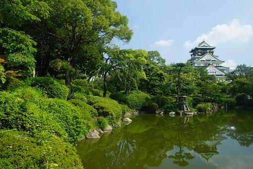 Japan, Osaka, Park, Reflection, The Scenery