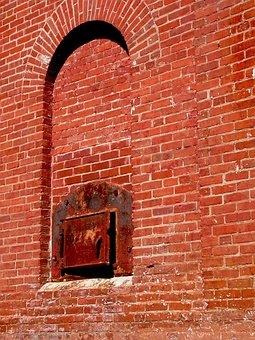 Industrial, Old, Vintage, Retro, Brick, Wall, Factory