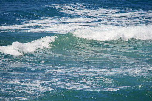 Sea, Ocean, Water, Waves, Aqua, Turquoise, Blue, Crest