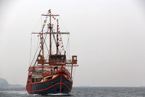 Santa Maria, Times, Sea, Pleasure Boat, Port, Ship