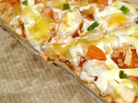 Pizza, Pepperoni, Slice, Sliced, Mozzarella, Junk