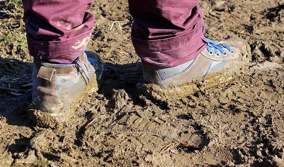 Earth, Wet Earth, Mud, Ground, Slippery, Shoes, Dirty