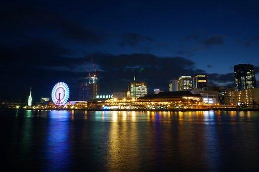 Japan, Osaka, Osaka Night View, Night View, Umeda