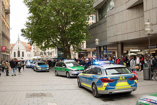 Police, Munich, Bavaria, Blue Light, Bmw