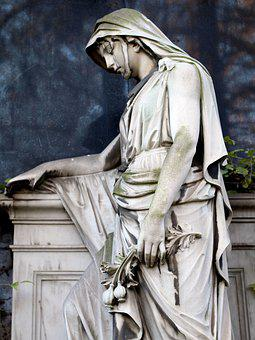 Angel, Tomb, Cemetery, Sculpture, Grave, Stone