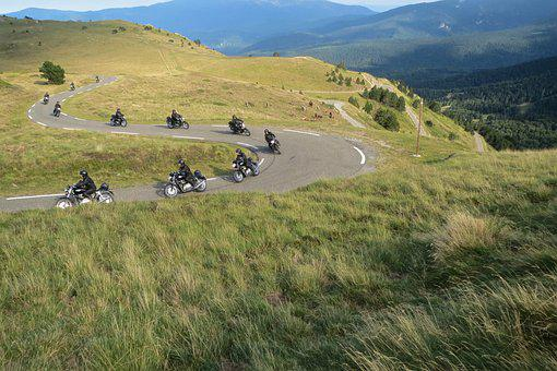 Motorcycle, Curve, Motorcyclist, Pyrenees, Movement