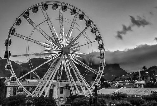 Ferris Wheel, Play-land, Park, Outdoor, Landscape
