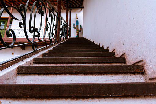 Stairs, Wood, Stairway, Railing, Staircase, Building