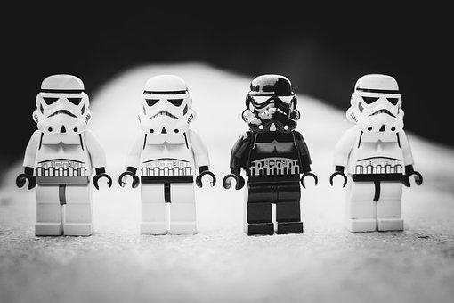 Star Wars, Lego, Stormtrooper, White, Toys, Evil