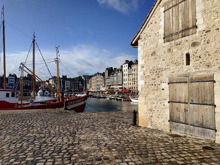 Honfleur, France, Building, Stre, Normandy, Port
