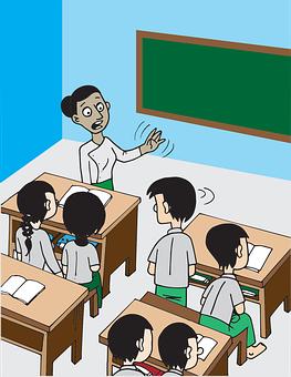 Burma, Myanmar, School, Class, Students, Teacher, Boy