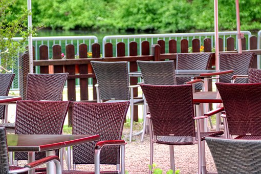 Chairs, Empty, Gastronomy, Table