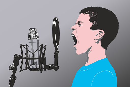 Microphone, Child, Vector, Singer, Singing, Music