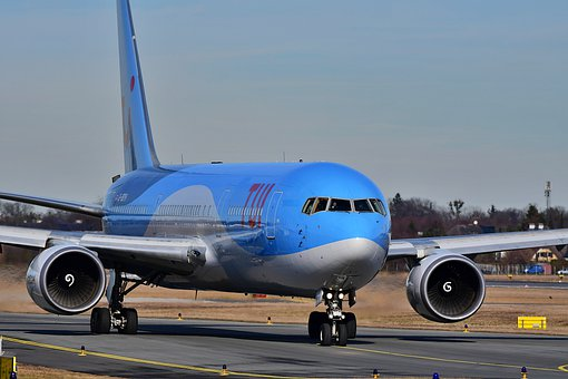 Aircraft, Flight, Boeing 767, Airport