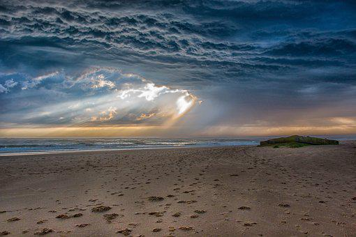 Beach, Storm, Stormy, Ocean, Weather, Drama, Clouds