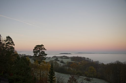 Sunrise, Morning, Landscape, Rest, Sky, Fog