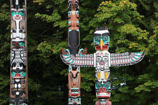 Totem, Indians, Stake, Exotic, Native American, Tribe