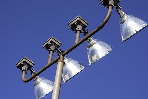 Outdoor, Stadium, Lights, Pole, Mounted, Shiny